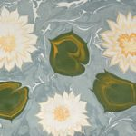 Water Lillies – Art of Marbling – Surrey Artist Ebru Koçak- Surrey Art School Dorking