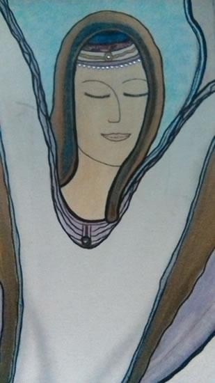 Angel Art Prints: Celestial Painting by Karen Marie Budge Artist