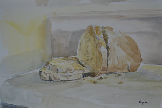 Bread Painting by Redhill Surrey Artist Dipen Boghani
