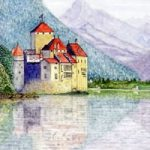 Chateau de Chillon, Montreux, Switzerland – Europe Art Gallery – Artist John Bunce – Guildford Art Society