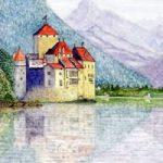 Chateau de Chillon, Montreux, Switzerland – Europe Art Gallery – Artist John Bunce – Guildford Art Society