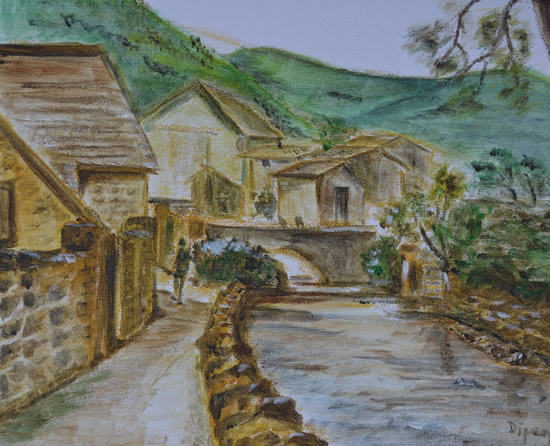 Cotswolds Art Gallery - Painting by Redhill Surrey Artist Dipen Boghani