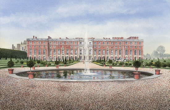 Hampton Court Palace & Gardens - London Art Gallery - Artist John Healey - Byfleet Art Group
