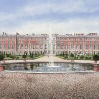Hampton Court Palace & Gardens – London Art Gallery – Artist John Healey – Byfleet Art Group