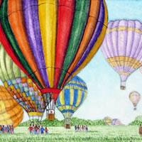 Hot Air Balloons – Surrey Art Gallery – Artist John Bunce – Guildford Arts Society