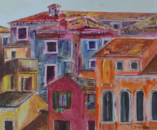 Mediterranean Art Gallery - Vista Painting by Redhill Surrey Artist Dipen Boghani