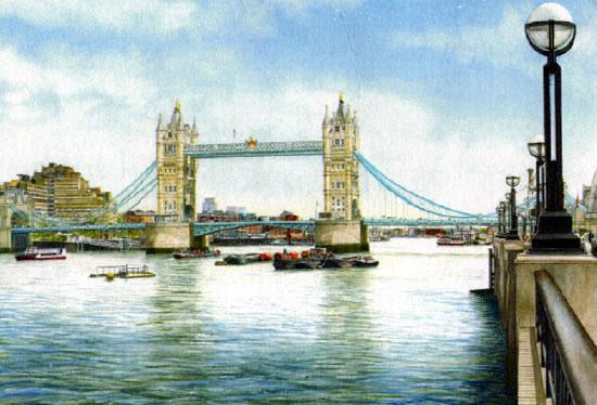 Tower Bridge London - London Art Gallery - Artist John Healey - Woking Society of Arts