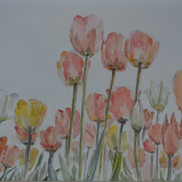 Tulips – Flowers Painting by Redhill Surrey Artist Dipen Boghani