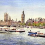 Westminster – Big Ben and Houses of Parliament – London Art Gallery – Artist John Healey – Woking Society of Arts