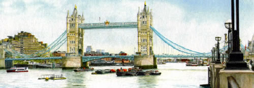 John Healey - Tower Bridge London painting