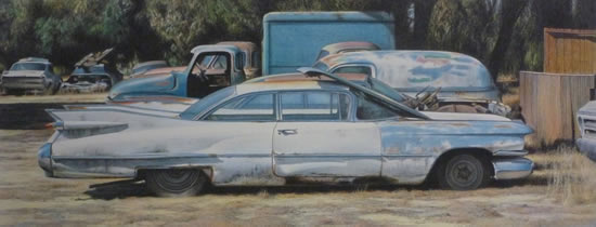 1959 Cadillac Coupe de Ville - David Deamer - Artist in Oils and Pencil Portraits - Surrey Art Gallery - Pirbright Art Club - Woking Society of Arts