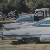 1959 Cadillac Coupe de Ville – David Deamer – Artist in Oils and Pencil Portraits – Surrey Art Gallery – Pirbright Art Club – Woking Society of Arts