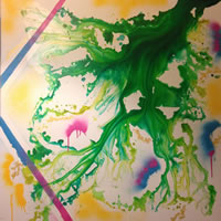 Abstract Art – Charlotte Amison – Surrey Art Gallery – Fine Artist Specialising in Abstract Expressionism