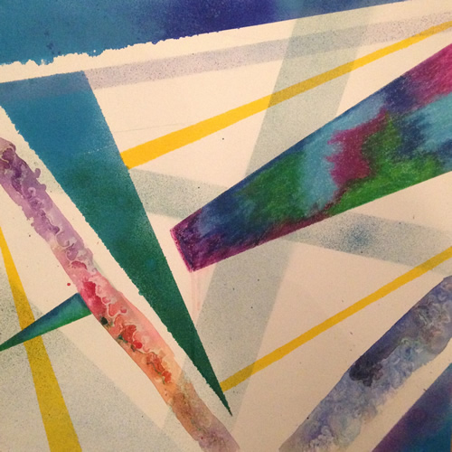 Abstract Art Expressionism - Spray Paint & Pastel On Canvas - Charlotte Amison - Surrey Gallery - Fine Artist