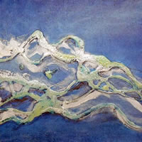 Abstract Art – River Thames – Contemporary Art Gallery – Artist Tony Scrivener – Surrey Institute of Art & Design