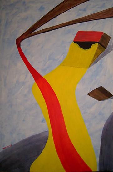 Abstract Art - River Thames - Contemporary Art Gallery - Artist Tony Scrivener - Surrey Institute of Art & Design