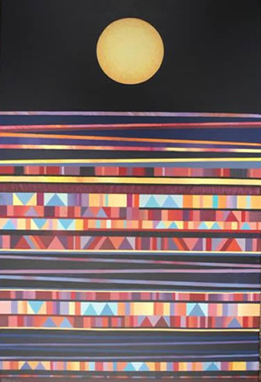Abstract Contemporary Art - Nocturne - Fred Masters - Paintings in Acrylic and Oil - Surrey Art Gallery