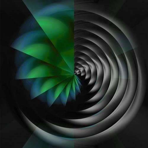 Abstract Digital Art - Black Hole II - Guildford Surrey Artist - Nicola Hawkes - Wibbles