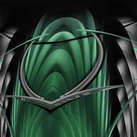 Abstract Digital Art – Botanic Underworld II – Guildford Surrey Artist – Nicola Hawkes – Wibbles