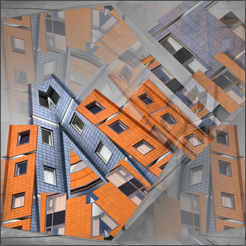 Abstract Digital Art - City Scape - Guildford Surrey Artist Nicola Hawkes - Wibbles