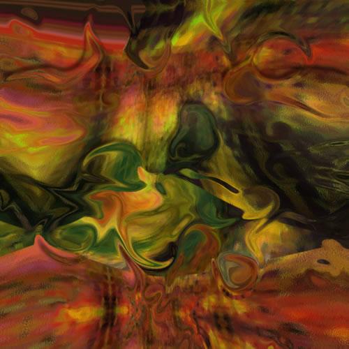 Abstract Digital Art - Furnace - Guildford Surrey Artist - Nicola Hawkes - Wibbles
