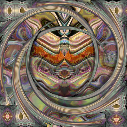 Abstract Digital Art - Passage To India - Guildford Surrey Artist - Nicola Hawkes - Wibbles