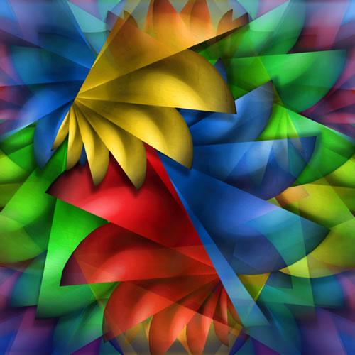 Abstract Digital Art - Rainbow Riot - Guildford Surrey Artist - Nicola Hawkes - Wibbles