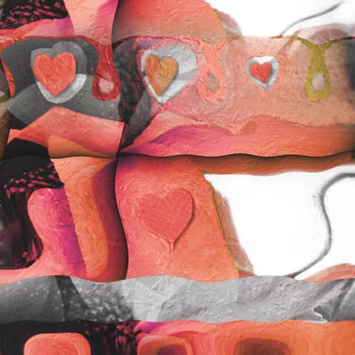 Abstract Digital Art - Romance - Guildford Surrey Artist - Nicola Hawkes - Wibbles