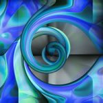Abstract Digital Art – Twist Of Blue – Guildford Surrey Artist – Nicola Hawkes – Wibbles