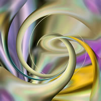 Abstract Digital Art – Twisted Green – Guildford Surrey Artist – Nicola Hawkes – Wibbles