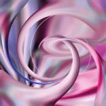 Abstract Digital Art – Twisted Pink – Guildford Surrey Artist – Nicola Hawkes – Wibbles