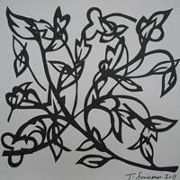 Abstract Floral – Surrey Art Gallery – Artist Tony Scrivener – Surrey Institute of Art & Design