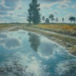 After The Rain, Ash Ranges – David Deamer – Artist in Oils and Pencil Portraits – Surrey Art Gallery – Pirbright Art Club – Woking Society of Arts