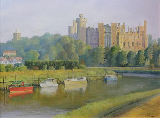 Arundel Castle - West Sussex - Daniele Mandelli - Painter of Oils - Merton Art Society - Surrey Art Gallery