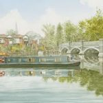 Barge on River Wey Weybridge – Art Gallery – Artist John Healey – Woking Society of Arts