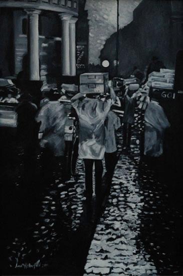 Billingsgate Fish Market - London Art Gallery - Jane Atherfold - Sunningdale Art Society
