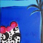 Blue 2 – Zainab Ali – Mixed Media Paintings and Textile Artist – Surrey Art Gallery
