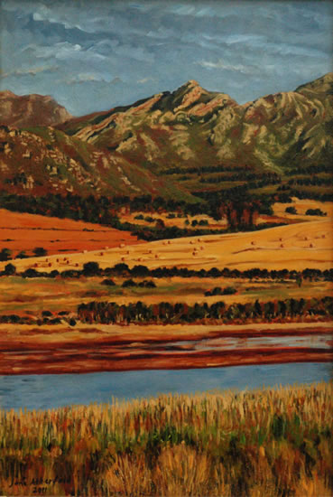 Bot River, Hermanus - South Africa Gallery - Jane Atherfold - Molesey Art Society