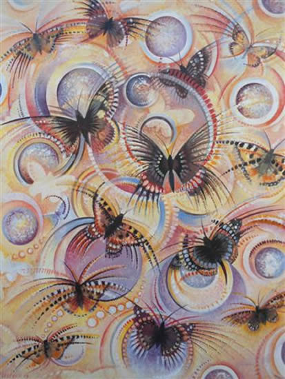 Butterflies - Metamorphosis - Fred Masters - Abstract Art - Paintings in Acrylic and Oil - Surrey Art Gallery
