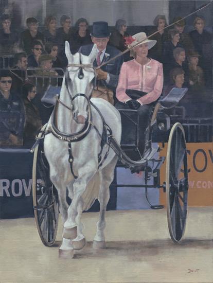 Carriage at Royal Windsor Horse Show 2013 ( I ) - Surrey Artist - Mark Dorsett - Gallery
