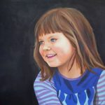 Child Portrait – Ashley – Kerry Regan – Artist Painting in Acrylic and Other Media – Surrey Art Gallery