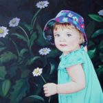 Child Portrait – Caitlin – Kerry Regan – Artist Painting in Acrylic and Other Media – Surrey Art Gallery