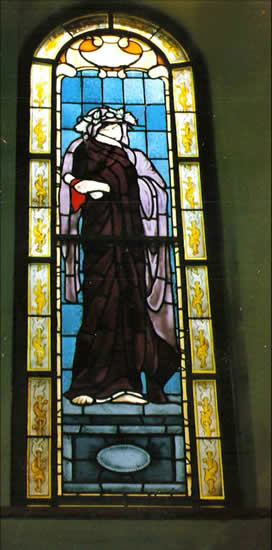 Stained Glass Window - Serenity - Surrey Artist Sherif Amin - Stained Glass Designer and Manufacturer and Painter