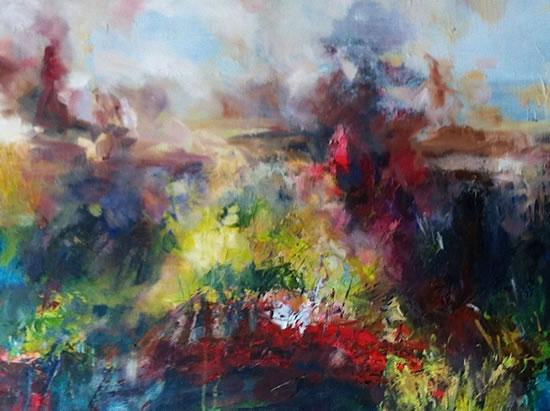 Colour Study Abstract - Stephen Kinder - Godalming Artist - Farnham Arts Society - Surrey Art Gallery