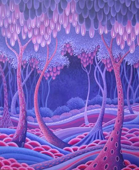 Contemporary Art - Forest - Fred Masters - Abstract Artist - Paintings in Acrylic and Oil - Surrey Art Gallery