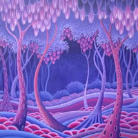 Contemporary Art – Forest – Fred Masters – Abstract Artist – Paintings in Acrylic and Oil – Surrey Art Gallery