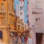 Corfu – Shopping Lanes in Kerkyra – Woking Society of Arts – David Harmer – Surrey Artist