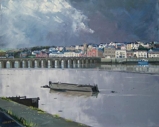 Devon - Bideford Bridge - Doug Myers - Fine Artist - Surrey Art Gallery