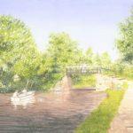 Dodds Bridge Pyrford – Wey Navigation Canal – Surrey Art Gallery – Artist John Healey – Woking Society of Arts
