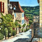 Dordogne, Late Afternoon In Domme – France Art Gallery – Jane Atherfold – Sunningdale Art Society